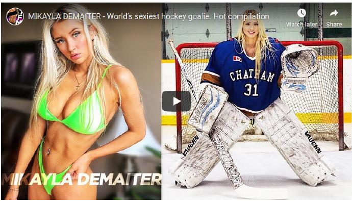【捕鱼王】最性感的曲棍球守门员Mikayla Demaiter~好身材