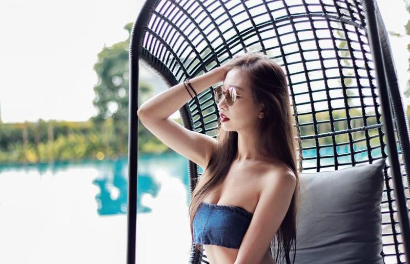 【捕鱼王】大长腿美女JoeyTng 性感正妹比基尼秀完美身材