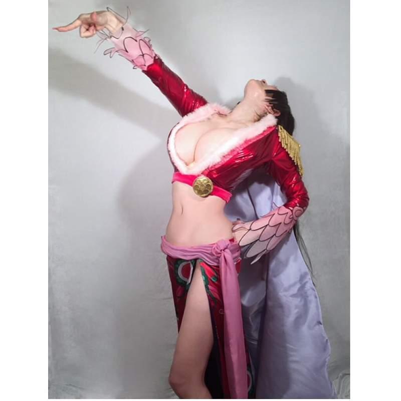 【捕鱼王】叶美香cosplay《航海王》蛇姬 二次元身材高度还原角色