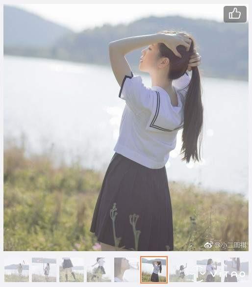 """【捕鱼王】鲤鱼旗制服妹 Coser""""一只绣花猫""""学生妹美图欣赏"""