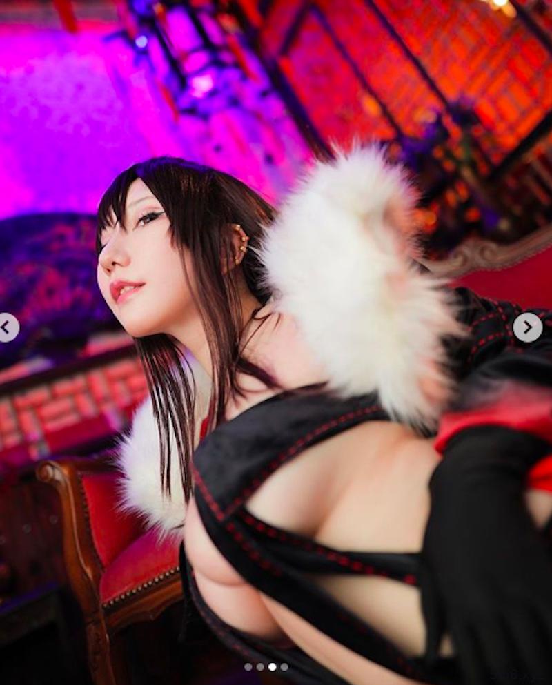 【捕鱼王】日本coser樱花妹saku 角色扮演大秀蜜桃臀与豪乳